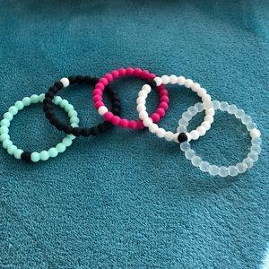 Jewelry - Set of 5 popular rubber bracelets. Lokai set